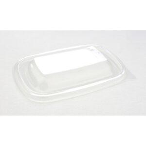 Műanyag PP Ívelt négyszögletes tető 20x13cm műanyag elviteles dobozhoz