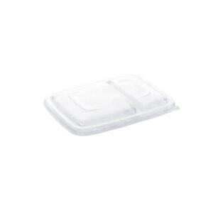 Műanyag PP Négyszögletes tető 2 rekeszes tálcához 16x23cm