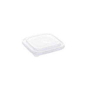 Újrahasznosított RPET tető szögletes salátás tálhoz 50db