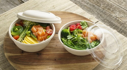 Komposztálható elviteles ételdoboz