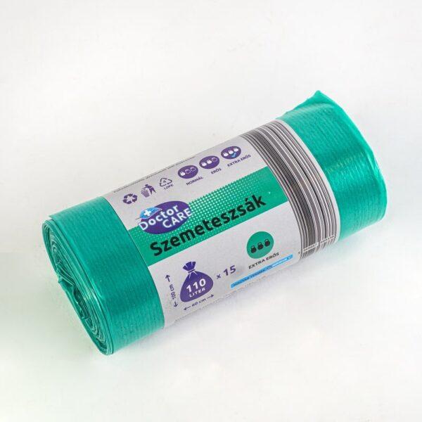 Szemeteszsák 110l zöld extra erős DoctorCare