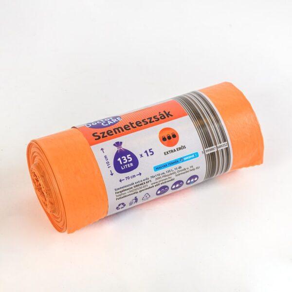 Szemeteszsák 135l narancs extra erős DoctorCare