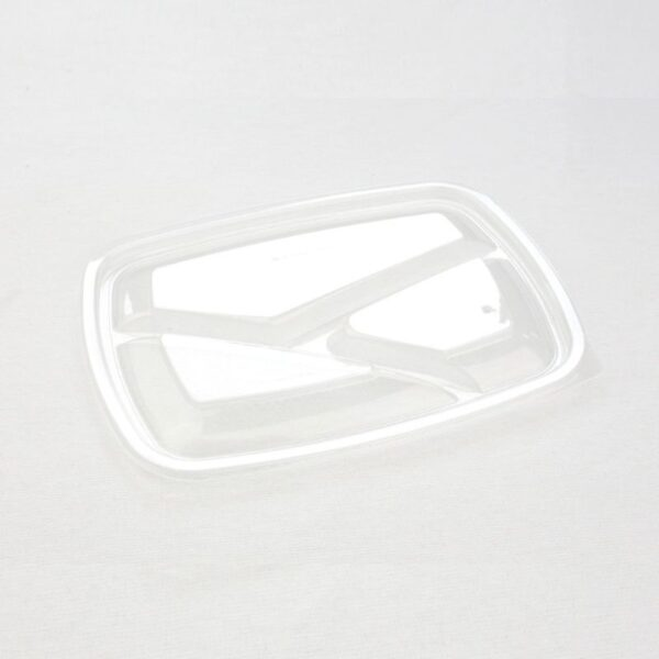 Sabert többször használható műanyag PP 3részes osztott tető tálhoz 23x17cm 75db