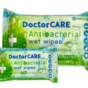 Antibakteriális nedves törlőkendők